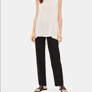 Eileen Fisher black stretch straight leg pants